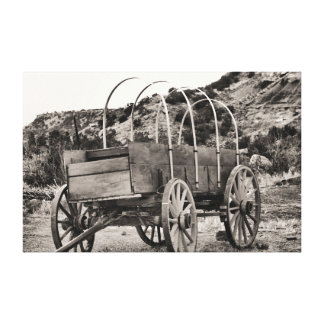 Old cover wagon canvas prints