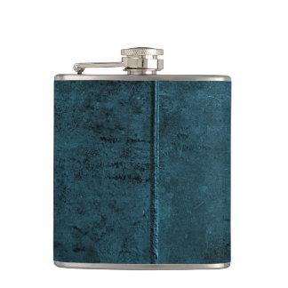Old Cow Hide Look In Blue Flasks