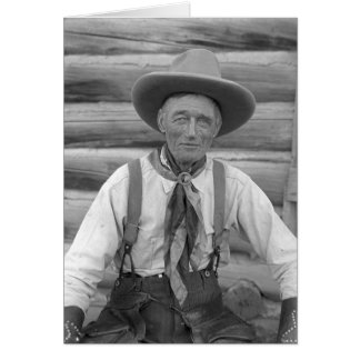 Old cowboy card