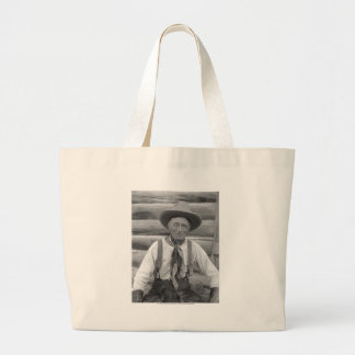 Old cowboy large tote bag