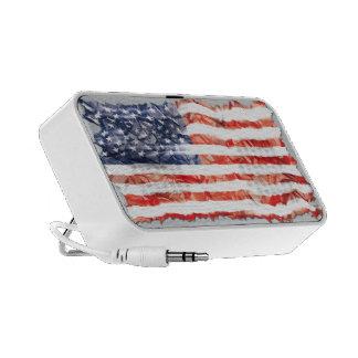 Old Creased American Flag Laptop Speaker