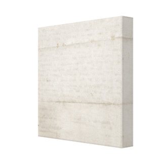 Old Creased Paper Gallery Wrap Canvas