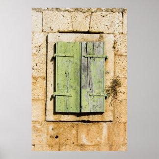Old Croatian window shutters Poster