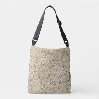 Old Crochet Lace Floral Pattern + your ideas Crossbody Bag