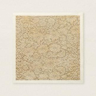 Old Crochet Lace Floral Pattern + your ideas Disposable Serviette