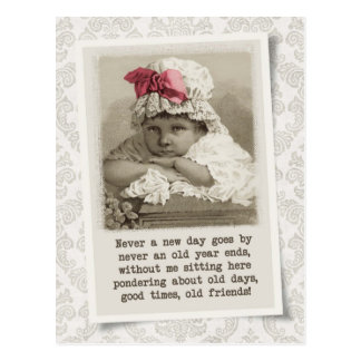 Old Days, Old Friends - Vintage Reproduction Postcard