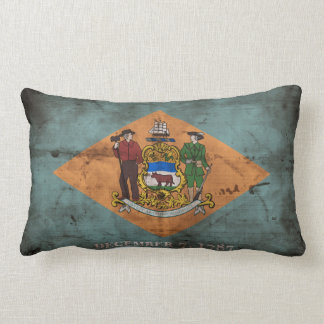 Old Delaware Flag; Throw Pillows