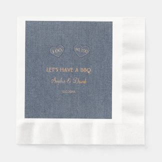 Old Denim Blue Western I DO BBQ Paper Napkins