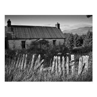 Old Derelict Cottage Postcard