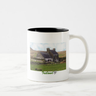 Old derelict Irish Cottage Two-Tone Coffee Mug