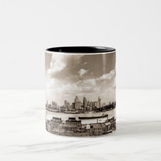 Old Detroit Two-Tone Coffee Mug