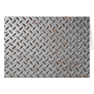 Old Diamond Plate Background Card