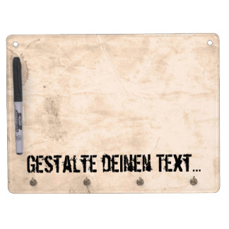 Old Dirty Background Dry Erase Board With Key Ring Holder