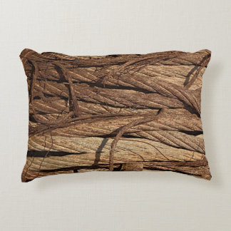 Old Dirty Rusty Industrial Steel Cables Decorative Cushion