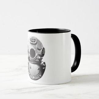 old diving helmet mug