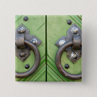Old door 15 cm square badge