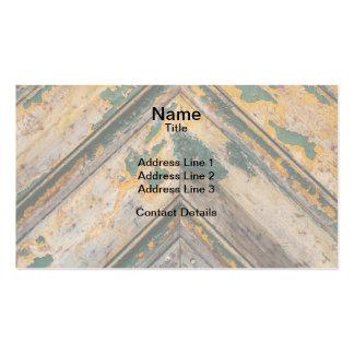 Old Door Chevron Pattern 2 Business Card Templates