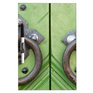 Old door dry erase board