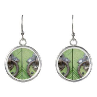 Old door earrings