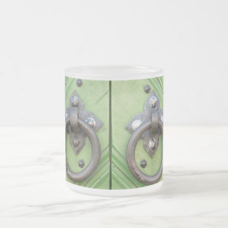 Old door frosted glass coffee mug