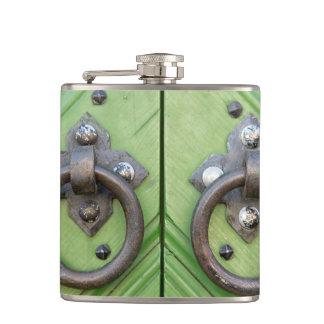 Old door hip flask