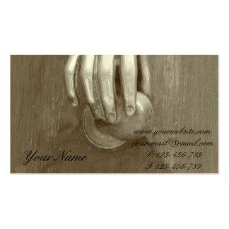 Old Door Knocker Business Card