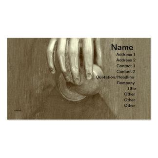 Old Door Knocker Business Cards