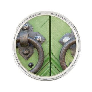 Old door lapel pin