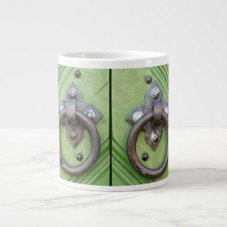 Old door large coffee mug