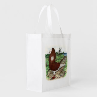 Old Dutch Capuchine Pigeon Reusable Grocery Bag