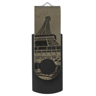 Old Eiffel Tower Photography Swivel USB 2.0 Flash Drive