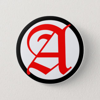 Old English Anarchy A 6 Cm Round Badge