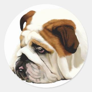 Old English Bulldog Round Sticker
