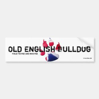 Old English Bulldog Sticker Bumper Sticker