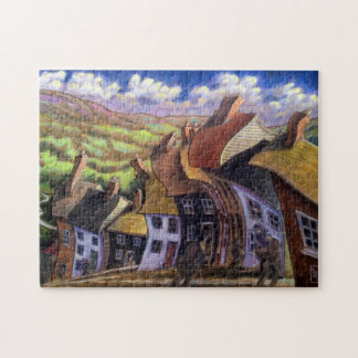 """""""Old English Country Village"""" 11x14 Picture Puzzle"""