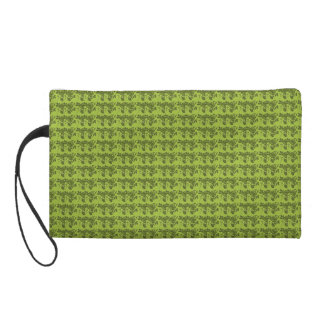 Old-English-Double-Rose-Green-Cosmetic_Wtirstlet-' Wristlet
