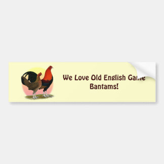 Old English Game Bantam:  BB Red Bumper Sticker