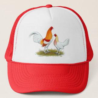 Old English Game Bantam:  Red Pyle Trucker Hat