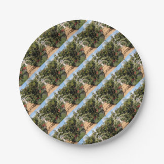 Old English garden Paper Plate