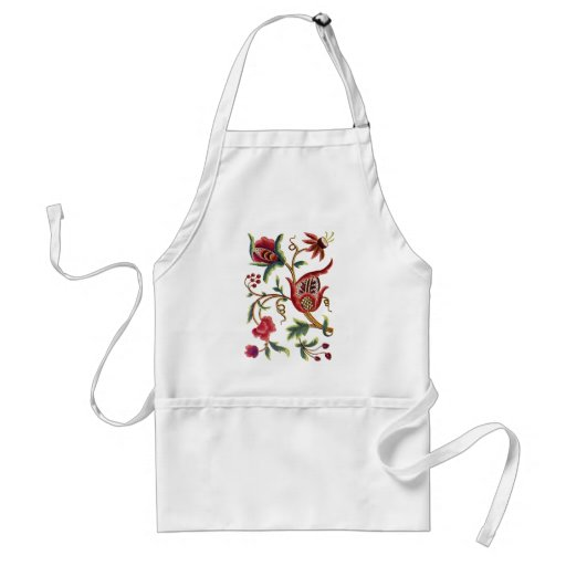 Old English Jacobean Embroidery Aprons