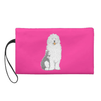 Old English Sheep Dog small bags Wristlets