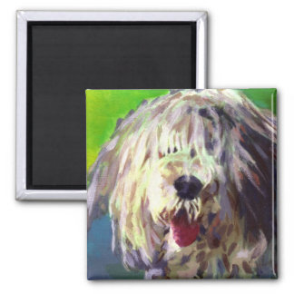 Old English Sheep Dog Square Magnet