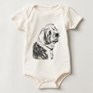 Old English Sheepdog Baby Bodysuit