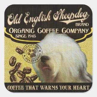 Old English Sheepdog Brand – Organic Coffee Compan Sticker