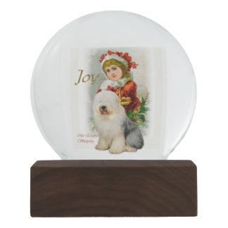 Old English Sheepdog Christmas Snow Globe
