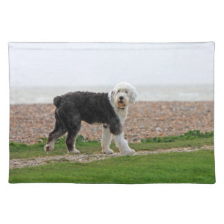 Old English Sheepdog dog place mat beautiful photo