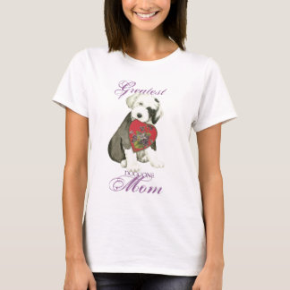 Old English Sheepdog Heart Mom T-Shirt