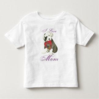 Old English Sheepdog Heart Mom Toddler T-Shirt