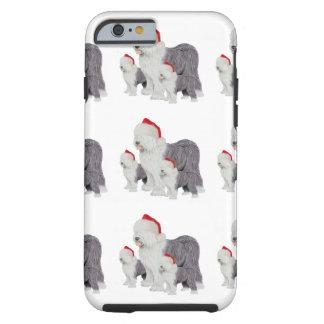 Old English Sheepdog Holiday iPhone 6, Tough Tough iPhone 6 Case