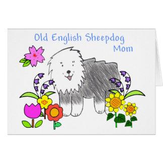 Old English Sheepdog Mom Card